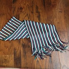 Turquoise Striped Scarf Love these colors! Turquoise, Aqua, White, deep Purple. Beautiful Brand New Scarf! Coldwater Creek Accessories Scarves & Wraps