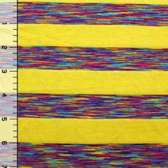 And this... I might have even pinned this before... Summer Yellow Vintage Rainbow Stripes Modal Cotton Jersey Knit Fabric