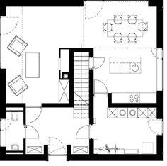Rundumlauf: Im Erdgeschoss gruppiere sich alle Räume um die Treppe
