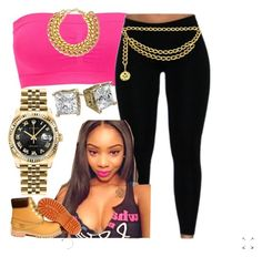 """""""✨"""" by newtrillvibes ❤ liked on Polyvore featuring Rolex, women's clothing, women, female, woman, misses and juniors"""