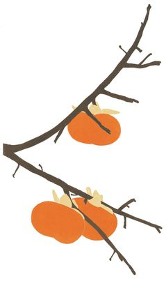 """""""Persimmon,"""" from the 2012 calendar by the printmaker Henry Evans."""