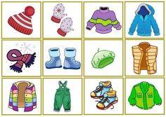 Beste 7 Kleidung Im Winter Kindergarten Seasons Activities, Winter Activities, Preschool Activities, Thema Winter Im Kindergarten, Classroom Art Projects, Math For Kids, Cartoon Pics, Matching Games, Winter Theme