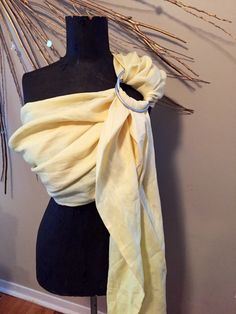 A personal favorite from my Etsy shop https://www.etsy.com/ca/listing/469009908/pale-yellow-linen-ring-sling-linen-ring