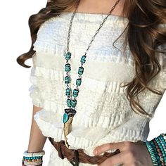 Turquoise & Horn Necklace