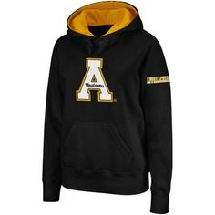 Appalachian State Mountaineers Ladies Big Logo Pullover Hoodie Sweatshirt - Black