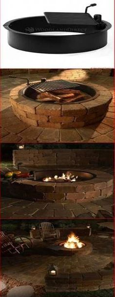 Beautiful and Easy DIY Outdoor Fire Pit. Use the Rockwood Steel Insert and - Fire Pit - Ideas of Fire Pit - Beautiful and Easy DIY Outdoor Fire Pit. Use the Rockwood Steel Insert and Diy Fire Pit, Fire Pit Backyard, Backyard Patio, Backyard Landscaping, Landscaping Design, Fire Pits, Backyard Fireplace, Fireplace Ideas, Propane Fireplace