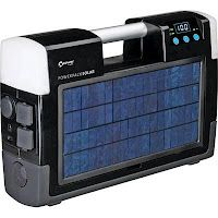 The ultimate in solar power. Take it where ever you don't have an outlet; camping, to the park, pool side, or just keep it for emergencies.    It has 2 – 120v AC outlets, 1 – 12v DC socket and 1 USB port to operate and/or charge a DVD player, 13″ color TV, laptop, cooler, a cordless phone etc.