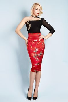 The Wheels & Dollbaby signature pencil skirt – Add instant allure to your wardrobe with this luxurious stretch satin collectors' piece. Showcasing our collectors' edition AW16 Birds of Paradise print, Le Chic Pencil has slim waistband detail, invisible zipper closure and small back vent for ease of wear. Team with the ultra sheer Carla Bruni Blouse or classic WDB knitwear for an uptown look. The Limited edition Birds Of Paradise Pencil now features longer length hemline for a…