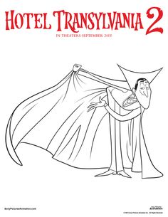 Dress Drac up any way you want with these custom coloring sheets you can print at home. | Hotel Transylvania 2