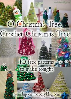 These free patterns will have you singing, ♫ ♪ O Christmas Tree, Crochet Christmas Trees! ♪♫  Perfect for every room of the house, office, and ideal for those with no space to spare!: