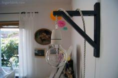 With textil cable * Kabellampe selber bauen Mit Textil Kabel Rustic Light Fixtures, Rustic Lighting, Home Lighting, Diy Furniture Repair, Diy Luz, Diy Luminaire, Candle Lamp, Idee Diy, Diy Interior