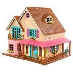 Li'l Woodzeez Toy House with Furniture - Honeysuckle Hillside Cottage Porch Lighting, Outdoor Lighting, Baby Doll Nursery, Secret Storage, Toy House, Mini Vacation, Family Set, Barbie Dream House, Work Lights