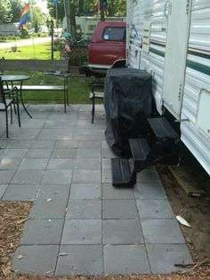 Build Your Own Deck: Ground Level And Portable | Patio | Pinterest |  Decking, Rv And Camping