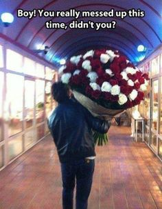 Yes I'd Like To Order A Dozen Dozen Roses Please - How To Apologize To A Girl ---- hilarious jokes funny pictures walmart humor fails