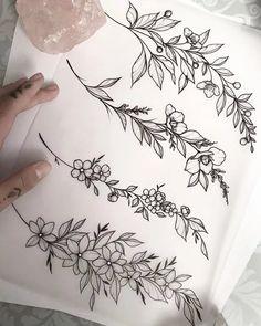 Wrist Tattoos, Mini Tattoos, Body Art Tattoos, Small Tattoos, Sleeve Tattoos, Knee Tattoo, Foot Tattoos, Tatoos, Floral Tattoo Design