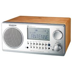Sangean Digital Am And Fm Stereo System With Lcd & Alarm Clock (walnut)