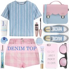 How To Wear Denim Top Outfit Idea 2017 - Fashion Trends Ready To Wear For Plus Size, Curvy Women Over 20, 30, 40, 50