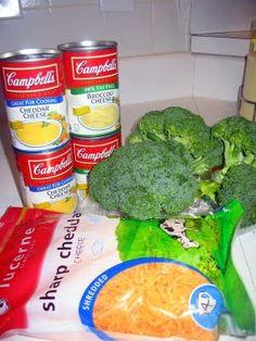 semi-homemade broccoli cheese soup
