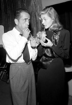 Humphrey Bogart and Lauren Bacall | http://aol.it/UX781r via @stylelist