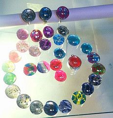 Here is a better photo of the nailpolish jewelry. The white balance was off in the other...my apologies!