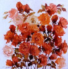 Fantezi  oil/canvas  size 60cmx60cm  signed Bissinger 2012 Canvas Size, Flower Power, Saatchi Art, Presents, Romantic, Invitations, Plants, Saatchi Online, Painting