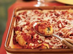 Artichoke, Spinach, and Feta Stuffed Shells   Few meals satisfy like a hearty casserole. From baked pastas to chicken and vegetables, we've got all of the flavor combinations you crave.Whether you're hosting a friendly gathering or serving a weeknight family dinner, one of our casseroles is sure to be just right for the occasion. The best part? Many of these recipes are great make-ahead options. Batch cook before a busy week, or freeze one to keep onon hand for unexpected guests.