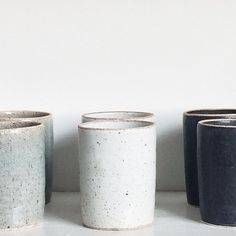 "Gefällt 509 Mal, 22 Kommentare - Peter Sheldon + Ellen Woglom (Sheldon Ceramics) auf Instagram: ""Stoneware tumblers for inconspicuous whiskey drinking available in time for thanksgiving Handmade…"""