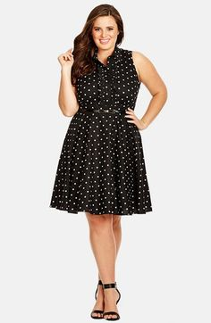 City Chic 'Spotty Dotty' Dress (Plus Size) available at #Nordstrom