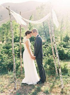 simple wedding chuppah