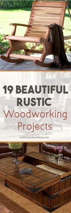 Rustic interior is one of the classiest decorating styles. Check out these 19 rustic woodworking projects and furniture pieces that will inspire you! #WoodworkProjects