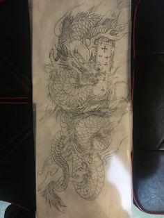 Traditional Japanese Tattoos, Japan Tattoo, Yakuza Tattoo, Irezumi, Tatting, Design, Legs, Dragons, Tattoo Art