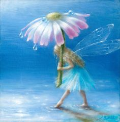 Fairy with umbrella - Fantasy & Abstract Background Wallpapers on Desktop Nexus (Image Fairy Dust, Fairy Land, Fairy Tales, Fairy Paintings, Fairy Drawings, Illustration Noel, Fairy Pictures, Love Fairy, Beautiful Fairies