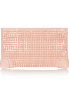 Christian Louboutin Loubiposh spiked patent-leather clutch