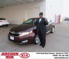 Congratulations to Merry M Bates on the 2013 Kia Optima
