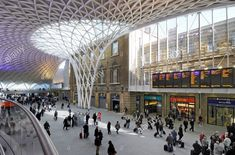 London Kings Cross Train Station Central London England Today