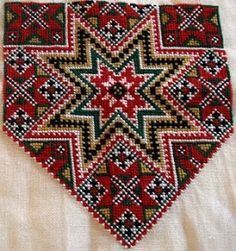 Bilderesultat for hardangerbunad Hardanger Embroidery, Cross Stitch Embroidery, Hand Embroidery, Peyote Patterns, Beading Patterns, Cross Stitch Patterns, Small Sewing Projects, Sewing Crafts, Palestinian Embroidery