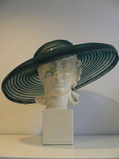 1930s 40s Vintage Tilt Top Wide Brimmed Hat by secreteyesonly, $75.00