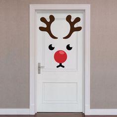 Door Décor: Reindeer – X-Large Holiday Removable Wall Decals - Tür Diy Christmas Door Decorations, Christmas Classroom Door, Office Christmas, Christmas Art, Christmas Ornaments, Christmas Projects, Holiday Crafts, Removable Wall, Wall Decals