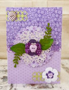 Simply Creative Lavender Dreams Floral Layers Card by design team member Katie