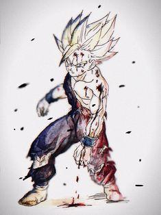 Dragon 🐉 Ball Z: Android/Cell Saga - Gohan Dragon Ball Z, Teen Wallpaper, Dbz, Ball Drawing, Sketch Tattoo Design, Image Fun, Anime Costumes, Good Manga, Anime Comics
