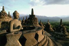 candi borobudur in the morning