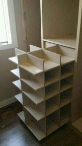 Ideas For Storage Closet Organization Diy Organisation Closet Shoe Storage, Diy Shoe Rack, Shoe Closet, Shoe Racks, Clothes Storage, Closet Organisation, Diy Organization, Organizing Ideas, Bedroom Closet Storage