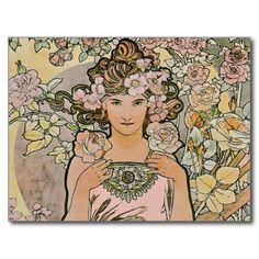 rose_flower_girl_art_nouveau_bridal_postcard-r83458ea627b54805825b5f482b24cd24_vgbaq_8byvr_512.jpg (512×512)