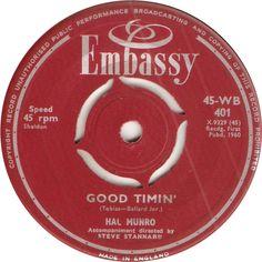 45-WB 401. Good Timin'. Hal Munro. 45.