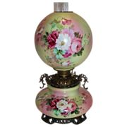 SOLD Museum Quality ~ OUTSTANDING HUGE Gone with the Wind Oil Lamp ~Masterpiece Breathtaking B