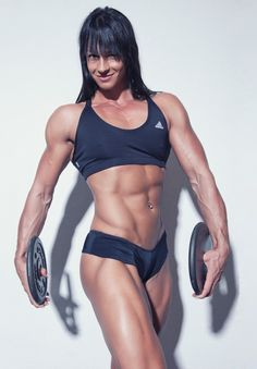 gorgeous sculpted abs and thighs of Swiss muscle babe & #Fitness model Cindy Landolt : if you LOVE Health, DIY Workouts & #Inspirational Body Goals - you'll LOVE the #Motivational designs at CageCult Fashion: http://cagecult.com/mma