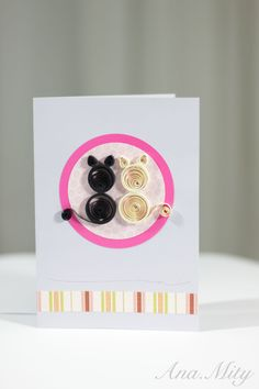 "Quilling Card ""In Love"""