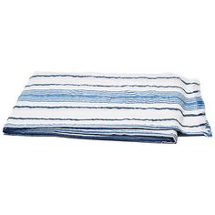 Throw Capri Stripe Beach Blanket Riviera Throws ($49) ❤ liked on Polyvore featuring home, bed & bath, bedding, blankets, riviera, striped cotton blanket, cotton throw blanket, blue stripe bedding, cotton throw and cotton bedding