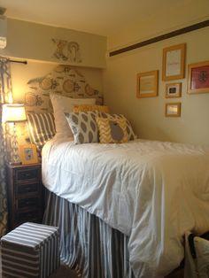 Custom dorm room bed skirts panels dust ruffles by FabulousDorm