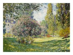 The Park at Monceau by Claude Monet Painting Print